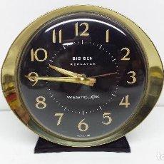 Despertadores antiguos: RELOJ DESPERTADOR WESTCLOX BIG BEN - MADE IN SCOTLAND - AÑOS 70 A CUERDA Y FUNCIONANDO. Lote 113212663