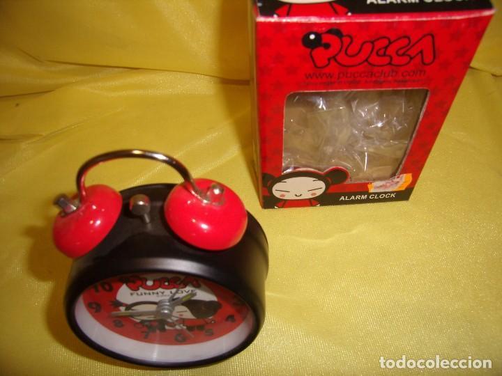 Despertadores antiguos: Reloj despertador Pucca, año 1993, Nuevo. - Foto 4 - 113573515