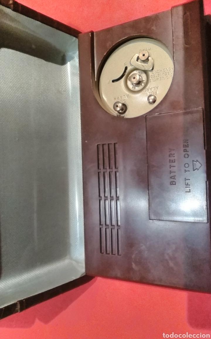 Despertadores antiguos: Radio reloj despertador a cuerda Asibo - Foto 4 - 114117780