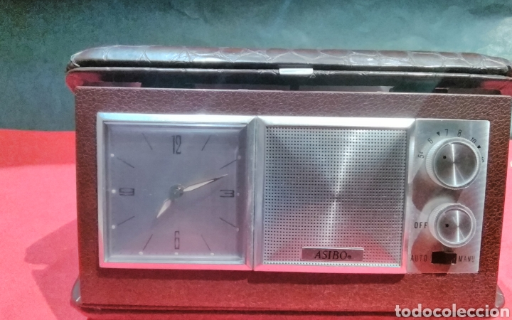 Despertadores antiguos: Radio reloj despertador a cuerda Asibo - Foto 5 - 114117780