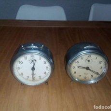 Despertadores antiguos: LOTE DE 2 RELOJES ANTIGUO . Lote 114121439
