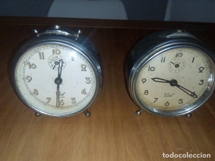 Despertadores antiguos: Lote de 2 relojes antiguo - Foto 2 - 114121439
