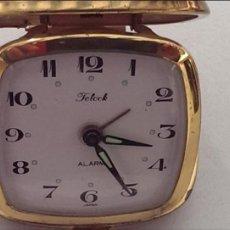 Despertadores antiguos: RELOJ DESPERTADOR DE VIAJE TELOCK JAPON. Lote 114428847