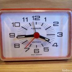 Despertadores antiguos: RELOJ DESPERTADOR RETRO VINTAGE ELECTRONICO FLAMINAIRE. FUNCIONANDO. Lote 115651791