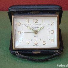 Despertadores antiguos: ANTIGUO RELOJ DESPERTADOR DE CUERDA. MARCA. GOLDBÜHL MADE IN WEST GERMANY. FUNCIONA.. Lote 116481971