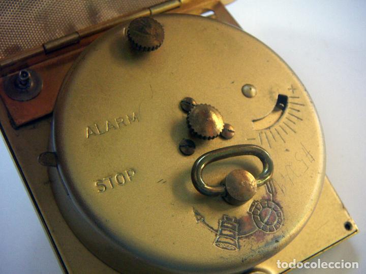 Despertadores antiguos: RELOJ DESPERTADOR PETACA MARCA EUROPA - Foto 4 - 118601731