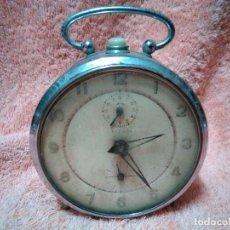 Despertadores antiguos: ANTIGUO RELOJ DESPERTADOR PARA REPARAR O DECORACION. Lote 118837219