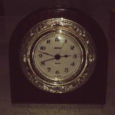 Despertadores antiguos: RELOJ DESPERTADOR ALEMAN STAIGER PLATA DE LEY FUNCIONANDO MIREN FOTOS . Lote 119738115