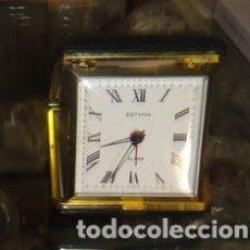 Despertadores antiguos: RELOJ DESPERTADOR ESTYMA. CUERDA. FUNCIONANDO. Lote 120162763