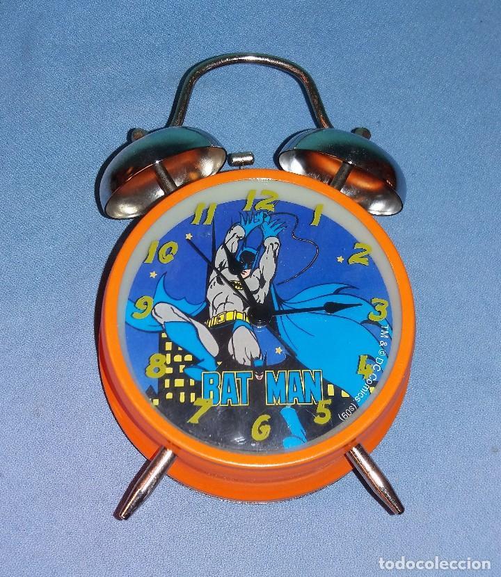 RELOJ DESPERTADOR DE BATMAN FUNCIONA CORRECTAMENTE (Relojes - Relojes Despertadores)