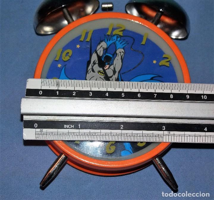 Despertadores antiguos: RELOJ DESPERTADOR DE BATMAN FUNCIONA CORRECTAMENTE - Foto 2 - 120405291