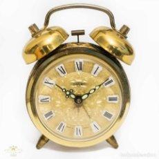 Despertadores antiguos: EXELENTE RELOJ DESPERTADOR ALEMAN FUNCIONANDO PERFECTAMENTE CON CUERDA MANUAL. Lote 123029335
