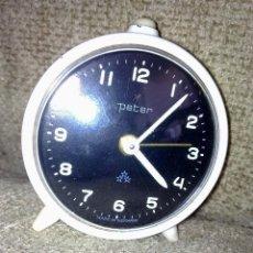 Despertadores antiguos: RELOJ DESPERTADOR PETER ALEMAN. Lote 123288627