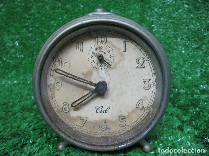 ANTIGUO RELOJ DESPERTADOR MARCA CID (Relojes - Relojes Despertadores)