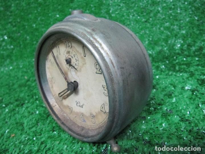 Despertadores antiguos: ANTIGUO RELOJ DESPERTADOR MARCA CID - Foto 5 - 125159703