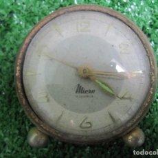 Despertadores antiguos: RELOJ DESPERTADOR MICRO 2 JEWELS CARGA MANUAL. Lote 125161255