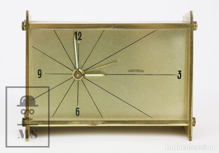 Despertadores antiguos: Reloj Despertador Vintage de Sobremesa - Obayardo - Dorado - Medidas 11,5 x 4,5 x 8,5 cm - Foto 2 - 132620887
