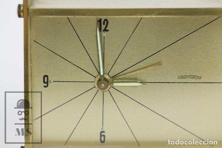 Despertadores antiguos: Reloj Despertador Vintage de Sobremesa - Obayardo - Dorado - Medidas 11,5 x 4,5 x 8,5 cm - Foto 3 - 132620887