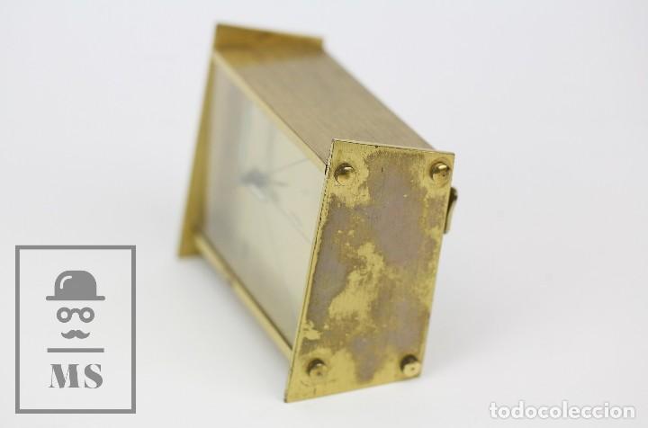 Despertadores antiguos: Reloj Despertador Vintage de Sobremesa - Obayardo - Dorado - Medidas 11,5 x 4,5 x 8,5 cm - Foto 10 - 132620887