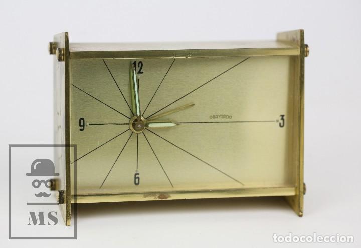 Despertadores antiguos: Reloj Despertador Vintage de Sobremesa - Obayardo - Dorado - Medidas 11,5 x 4,5 x 8,5 cm - Foto 11 - 132620887