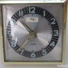 Despertadores antiguos: RELOJ DESPERTADOR TAIYO DE CARGA MANUAL. Lote 128155219
