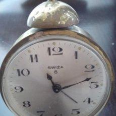 Despertadores antiguos: DESPERTADOR SWIZA 8 DÍAS DE CUERDA CON ALARMA . Lote 128318083