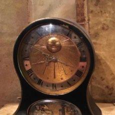 Despertadores antiguos: RELOJ DESPERTADOR CON MOVIMIENTO Y MÚSICA MARCA JAEGER SWIS , NO FUNCIONA. Lote 130393632