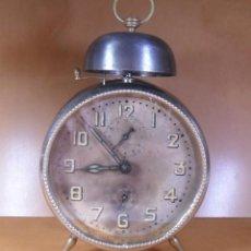 Despertadores antiguos: ANTIGUO RELOJ DESPERTADOR JUNGHANS - C'1920 - FUNCIONA. Lote 131047556
