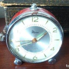 Despertadores antiguos: RELOJ DESPERTADOR MEDIANO MICRO 2 JEWELS FUNCIONANDO . Lote 131558034
