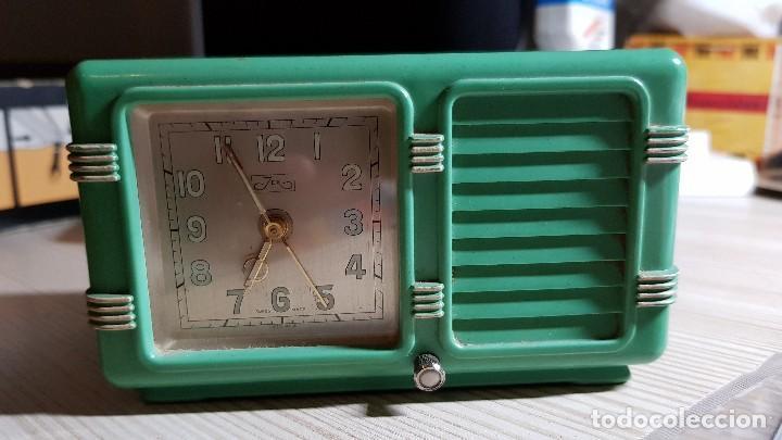 ANTIGUO RELOJ DESPERTADOR SUIZO JEX DEPOSE (Relojes - Relojes Despertadores)