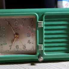 Despertadores antiguos: ANTIGUO RELOJ DESPERTADOR SUIZO JEX DEPOSE. Lote 132424326
