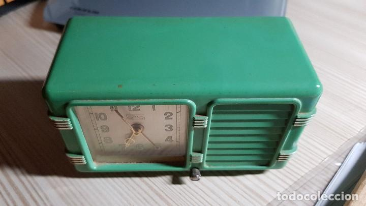Despertadores antiguos: Antiguo reloj despertador suizo JEX Depose - Foto 2 - 132424326
