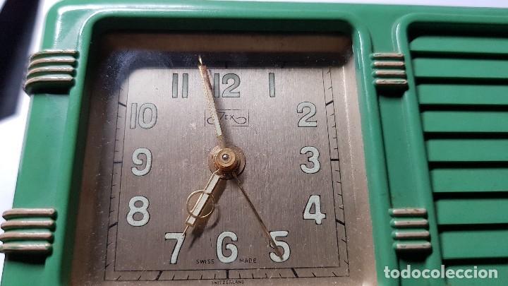 Despertadores antiguos: Antiguo reloj despertador suizo JEX Depose - Foto 5 - 132424326