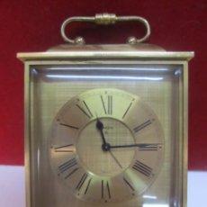 Despertadores antiguos: RELOJ DESPERTADOR SWIZA DE BRONCE. Lote 133333762