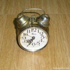 Despertadores antiguos: RELOJ DESPERTADOR DE MESA MICRO.FUNCIONADO.. Lote 133503762