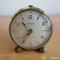 Despertadores antiguos: ANTIGUO RELOJ DESPERTADOR BLESSING BAMBINO A CUERDA. ALEMANIA, AÑOS 50. FUNCIONA. Lote 160347692