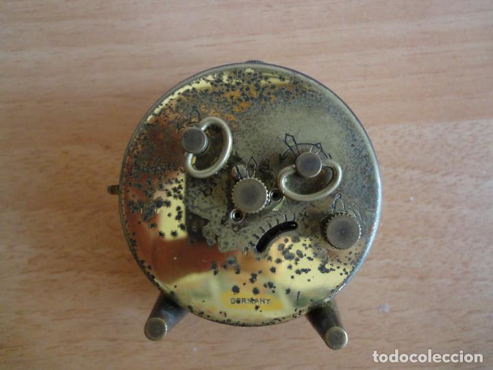 Despertadores antiguos: ANTIGUO RELOJ DESPERTADOR BLESSING BAMBINO A CUERDA. ALEMANIA, AÑOS 50. FUNCIONA - Foto 3 - 160347692