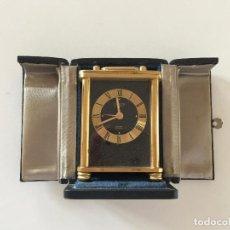 Despertadores antiguos: RELOJ DESPERTADOR LOOPING (SUIZA) SOBREMESA 15 JEWELS VINTAGE 1960 ALARMA CAJA ORIGINAL. Lote 139638250
