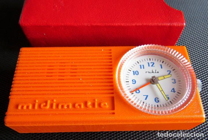RELOJ DESPERTADOR DE LA ANTIGUA ALEMANIA DEL ESTE - RULHA MIDIMATIC COMO NUEVO!! (Relojes - Relojes Despertadores)