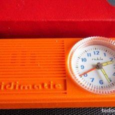Despertadores antiguos: RELOJ DESPERTADOR DE LA ANTIGUA ALEMANIA DEL ESTE - RULHA MIDIMATIC COMO NUEVO!!. Lote 139750746