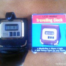 Despertadores antiguos: DESPERTADOR DE PILA LCD WALLET CON SU CAJA Y FUNCIONANDO. Lote 140485530