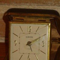 Despertadores antiguos: RELOJ DESPERTADOR DE VIAJE MARCA EUROPA.. Lote 141565118