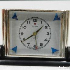 Despertadores antiguos: ANTIGUO RELOJ DESPERTADOR A CUERDA MARCA SLAVA AÑOS 60-70- VINTAGE. Lote 142781854