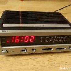 Despertadores antiguos: RADIO DESPERTADOR PHILIPS PRINCIPIOS AÑOS 70. Lote 142963986