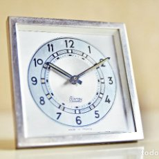 Despertadores antiguos: RELOJ DESPERTADOR FRANCES CROMADO BLANGY AÑOS 1940 - ART DECO ALARM CLOCK CHROME FRANCE. Lote 143161790