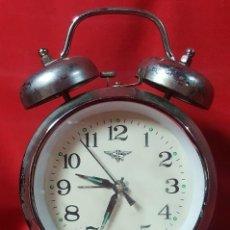 Despertadores antiguos: RELOJ DESPERTADOR EN FUNCIONAMIENTO.. Lote 143372034