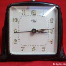 Despertadores antiguos: RELOJ DESPERTADOR ESTILO ART DECO MARCA CID. Lote 145973242