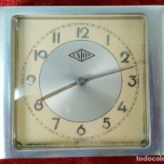 Despertadores antiguos: RELOJ DESPERTADOR DE SOBREMESA. MARCA UNION. METAL CROMADO. CIRCA 1960. . Lote 146077998