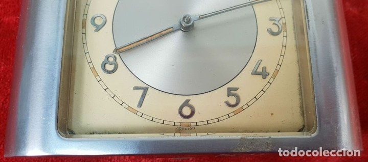 Despertadores antiguos: RELOJ DESPERTADOR DE SOBREMESA. MARCA UNION. METAL CROMADO. CIRCA 1960. - Foto 3 - 146077998