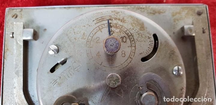 Despertadores antiguos: RELOJ DESPERTADOR DE SOBREMESA. MARCA UNION. METAL CROMADO. CIRCA 1960. - Foto 6 - 146077998
